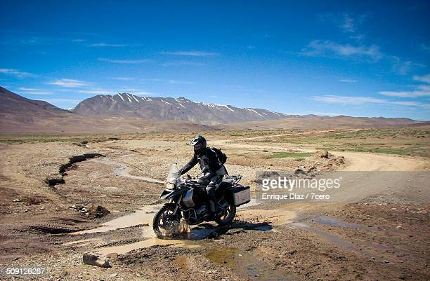 Atlas Mountains Motorcyclist