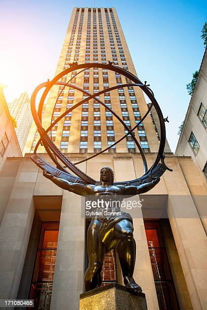 Atlas sculpture at the Rockefeller Center in New Y