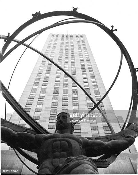 Atlas Statue at Rockefeller Center In New York City 1955