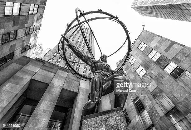 Atlas statue at Rockefeller Center in NYC