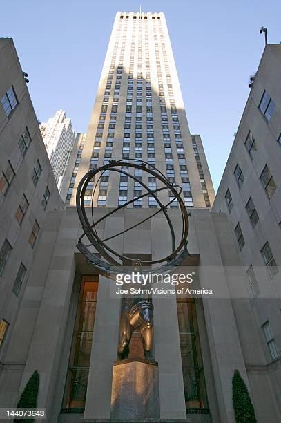 Atlas Statue holding the world at Rockefeller Center New York City New York