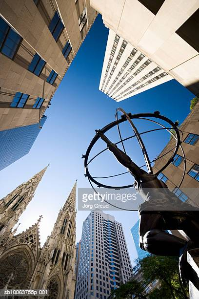 Atlas statue near St Patricks Cathedral