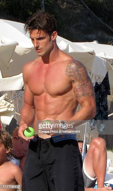 Atletico de Bilbao football player Aitor Ocio sighting on June 29 2011 in Ibiza Spain