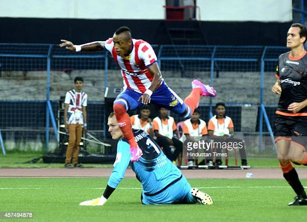 Atletico De Kolkata player Fikru Lemessa in action during the Indian Super League football match between Atletico de Kolkata and Delhi Dynamos FC at...