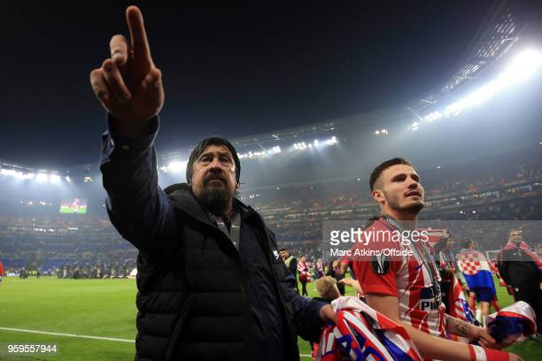 Atletico de Madrid assistant Manager German Burgos during the UEFA Europa League Final between Olympique de Marseille and Club Atletico de Madrid at...