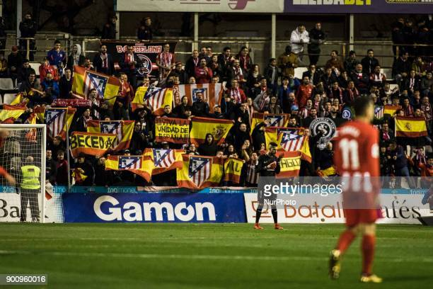 Atletico de Madrid fans during the Copa del Rey Spanish King's Cup match between Lleida v Atletico de Madrid at Camp d'Esports de Lleida in Lleida on...
