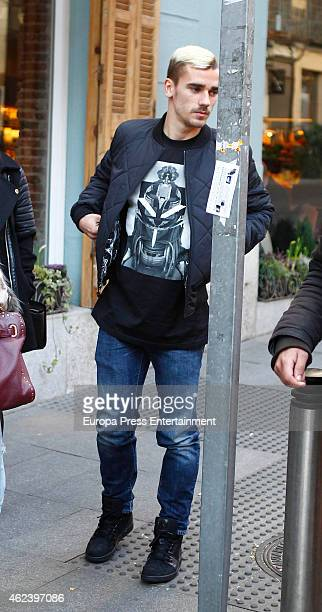Atletico de Madrid football player Antoine Griezmann is seen on January 27 2015 in Madrid Spain