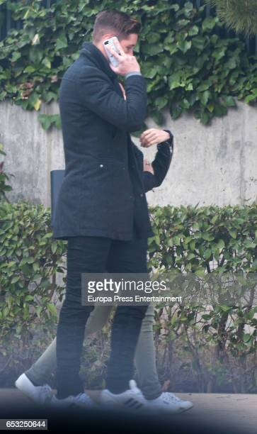 Atletico de Madrid football player Fernando Torres is seen on March 13 2017 in Madrid Spain