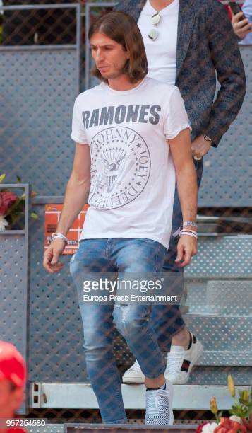 Atletico de Madrid football player Filipe Luis Kasmirski is seen attending the Mutua Madrid Open tennis tournament at the Caja Magica on May 10 2018...