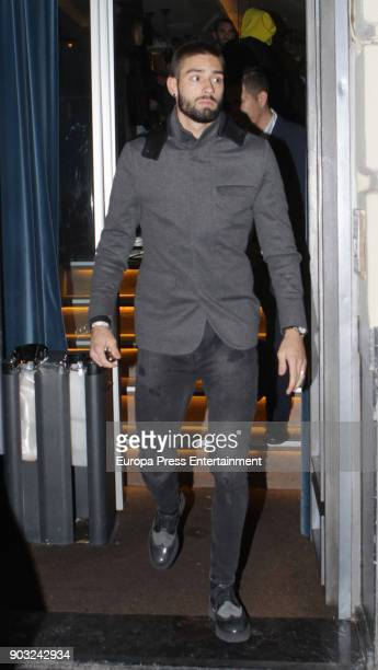 Atletico de Madrid football player Yannick Ferreira Carrasco is seen leaving a restaurant on January 9 2018 in Madrid Spain