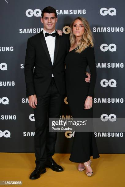 Atletico de Madrid player Alvaro Morata and wife Alice Campello attend 'GQ Men Of The Year' awards 2019 at Westin Palace Hotel on November 21 2019 in...