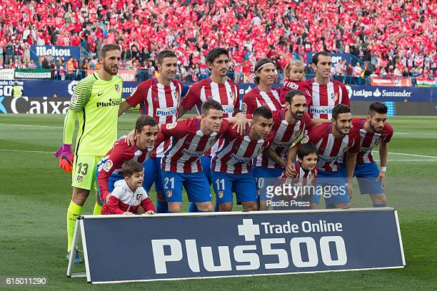 Atletico de Madrid regular team during the football match between Atletico de Madrid and Granada FC at Granada the day that was celebrated the...