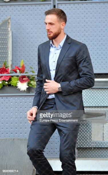 Atletico de Madrid Slovenian football player Jan Oblak during day nine of the Mutua Madrid Open tennis tournament at the Caja Magica on May 13 2018...