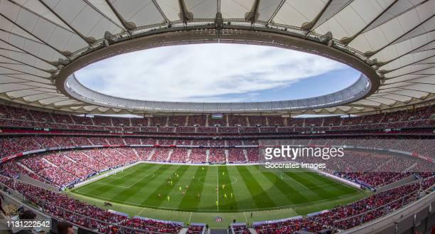 Atletico de Madrid stadium during the match between Atletico Madrid Women v FC Barcelona Women at the Estadio Wanda Metropolitano on March 17 2019 in...