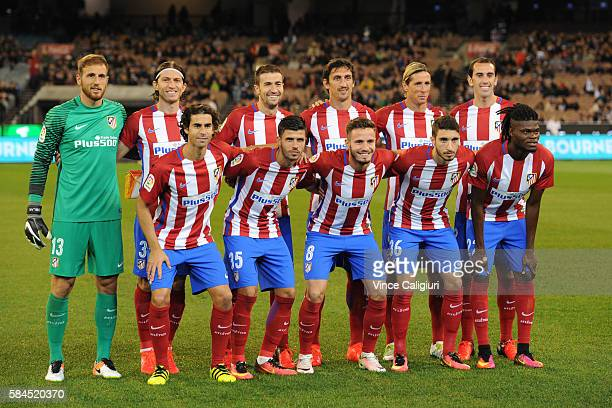 Atletico de Madrid team pose for team photo during 2016 International Champions Cup Australia match between Tottenham Hotspur and Atletico de Madrid...