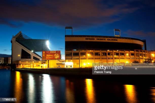 Atletico de Madrid Vicente Calderon stadium Manzanares river Madrid June 6 2013