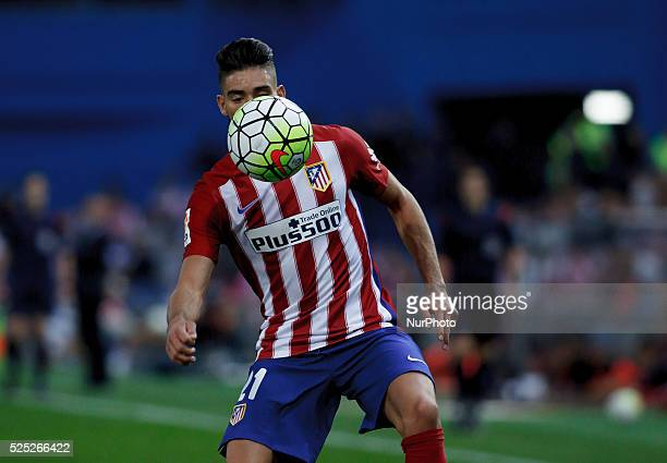 Atletico de Madrid's Belgian midfielder Yannick Carrasco during the Spanish League 2015/16 match between Atletico de Madrid and Getafe, at Vicente...