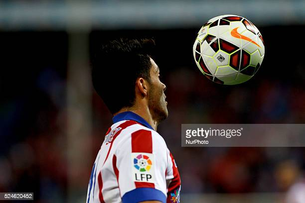 Atletico de Madrid's Mexican forward Raul Jimenez during the Spanish League 2014/15 match between Atletico de Madrid and Real Sociedad, at Vicente...