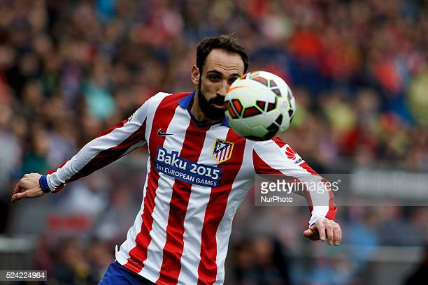 Atletico de Madrid's Spanish defender JuanFRan Torres during the Spanish League 2014/15 match between Atletico de Madrid and Getafe at Vicente...