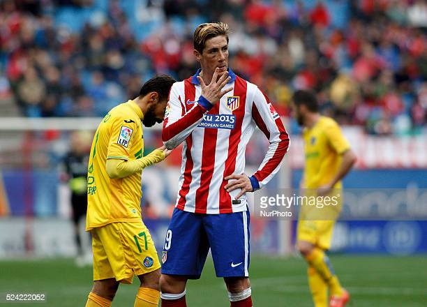 Atletico de Madrid's Spanish forward Fernando Torres during the Spanish League 2014/15 match between Atletico de Madrid and Getafe, at Vicente...