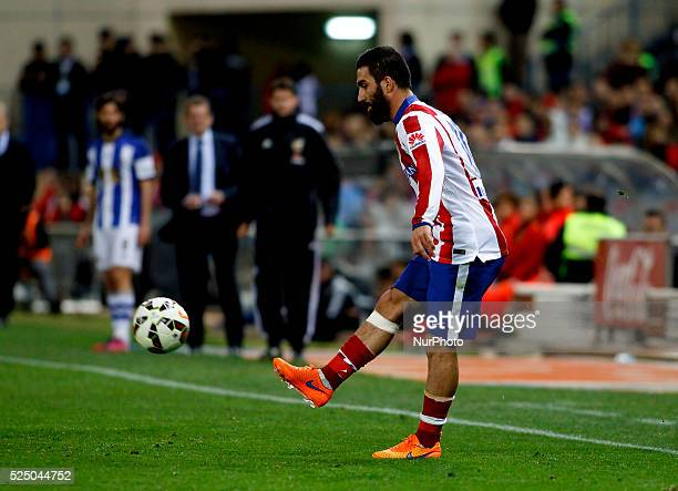 Atletico de Madrid's Turkish midfielder Arda Turan during the Spanish League 2014/15 match between Atletico de Madrid and Real Sociedad, at Vicente...