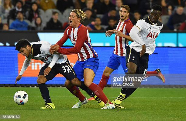 Atletico forward Fernando Torres and Tottenham Hotspurs's DeAndre Yedlin fight for the ball during the International Champions Cup football match...