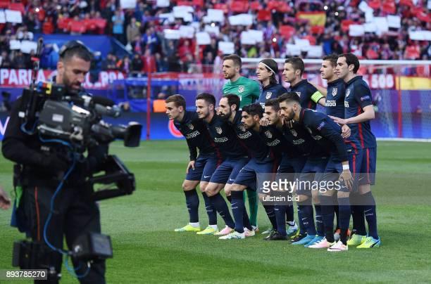 FUSSBALL Atletico Madrid FC Barcelona Mannschaftsbild Atletico Madrid Torwart Jan Oblak Filipe Luis Gabi Lucas Hernandez Diego Godin Antoine...