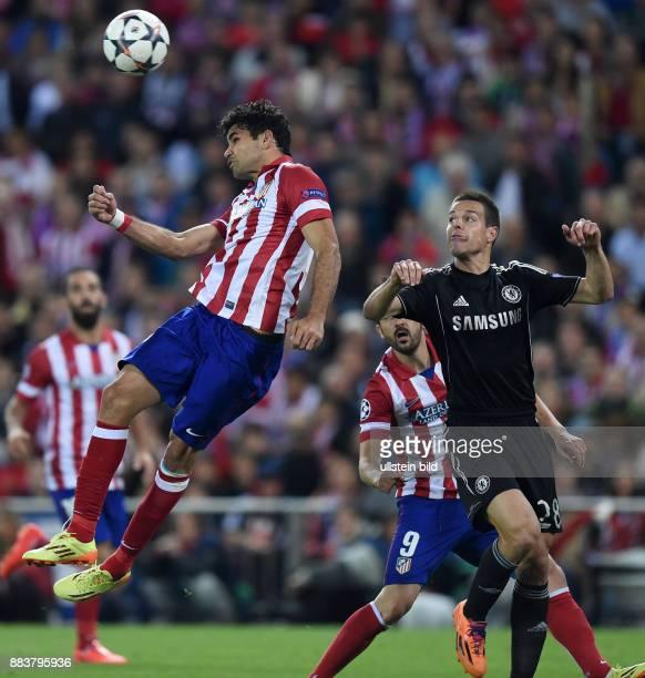 FUSSBALL CHAMPIONS Atletico Madrid FC Chelsea Diego Costa gegen Cesar Azpilicueta