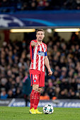 londonengland atletico madrid gabi during uefa