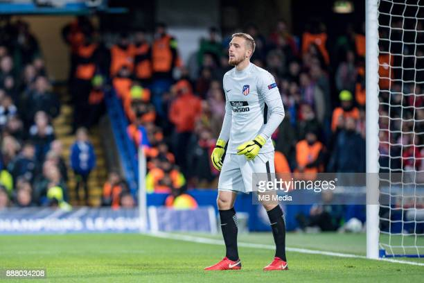 Atletico Madrid GK Jan Oblak during the UEFA Champions League group C match between Chelsea FC and Atletico Madrid at Stamford Bridge on December 5...
