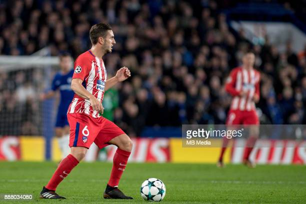 Atletico Madrid Koke during the UEFA Champions League group C match between Chelsea FC and Atletico Madrid at Stamford Bridge on December 5 2017 in...