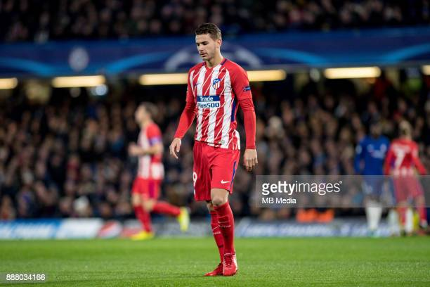 Atletico Madrid Lucas Hernández during the UEFA Champions League group C match between Chelsea FC and Atletico Madrid at Stamford Bridge on December...