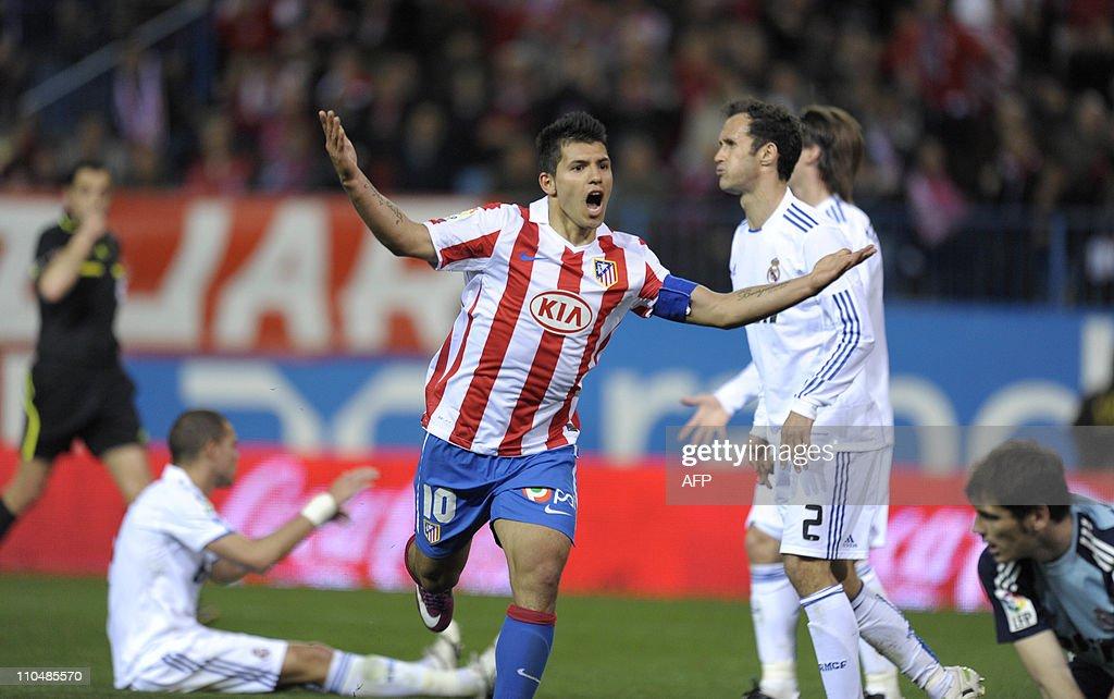 Atletico Madrid's Argentinian forward Se : News Photo