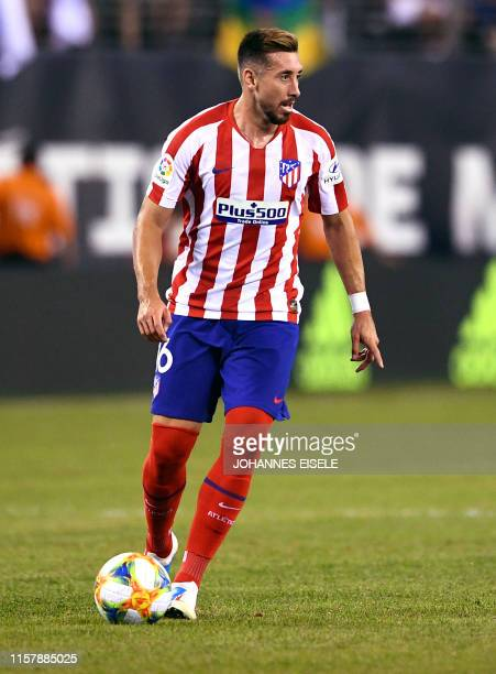 Atletico Madrid's Hector Herrera controls the ball during the 2019 International Champions Cup football match between Real Madrid and Atletico Madrid...