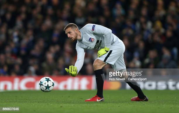 Atletico Madrid's Jan Oblak during the UEFA Champions League group C match between Chelsea FC and Atletico Madrid at Stamford Bridge on December 5...
