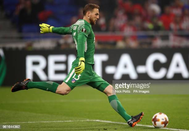 Atletico Madrid's Jan Oblak during the UEFA Europa League final at Parc Olympique Lyonnais Lyon