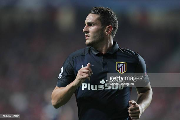 Atletico Madrid's midfielder Koke during the match between SL Benfica and Club Atletico de Madrid for the UEFA Champions League at Estadio da Luz on...