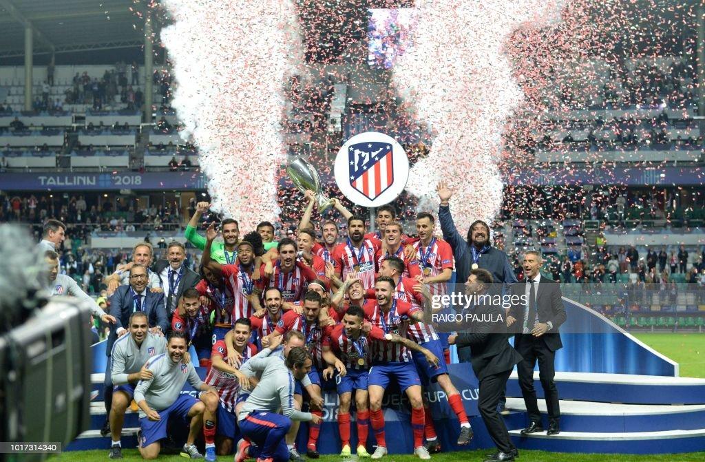 FBL-EUR-SUPERCUP-EST-ESP-REAL-MADRID-ATLETICO : News Photo
