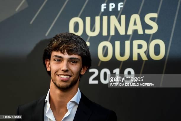 Atletico Madrid´s Portuguese forward Joao Felix arrives for the Portuguese Football Federation Quinas de Ouro 2019 awards ceremony at Carlos Lopes...