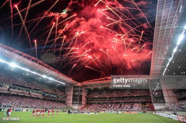 Atletico MG v Santa Fe for the Copa Briedgestone Libertadores 2014 at Independencia stadium on February 26 2014 in Belo Horizonte Brazil