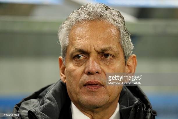Atletico Nacional Head Coach / Manager Reinaldo Rueda looks on prior to the FIFA Club World Cup Semi Final match between Atletico Nacional and...