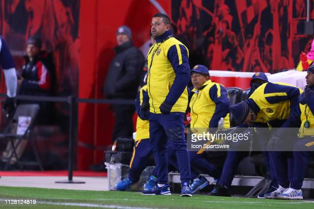 Atletico Pantoja head coach Mariano Tejeda during the CONCACAF Champions League Round of 16 Soccer game between the New York Red Bulls and Atletico...