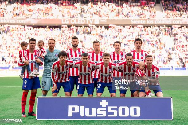 Atletico XI during La Liga match between Atletico de Madrid and Sevilla FC at Wanda Metropolitano on March 07 2020 in Madrid Spain