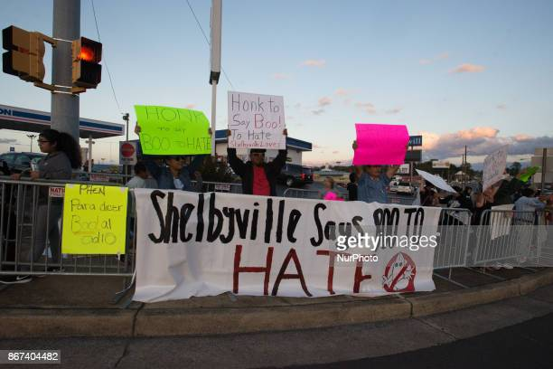 Atmosfere as Shelbyville prepares for a quotwhite lives matterquot rally residents call on passerby's to say 'Boo to Hate' in Shelbyville Tennessee...
