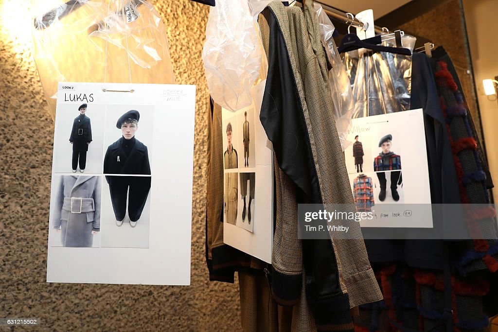Maison MIHARA YASUHIRO - Backstage - LFW Men's January 2017 : News Photo