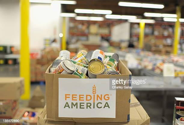 Atmosphere as actor Nick Cannon who was joined by artists from NCredible Entertainment supports Feeding America by volunteering at Los Angeles...