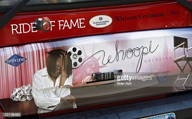 Atmosphere as actress Whoopi Goldberg is honored by Gray Line New York's Ride Of Fame Campaign on July 26, 2010 in New York City.
