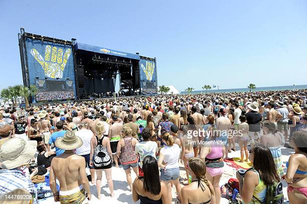 atmosphere as Alabama Shakes perform at Day 1 of the 2012 Hangout Music Festival on May 18 2012 in Gulf Shores Alabama