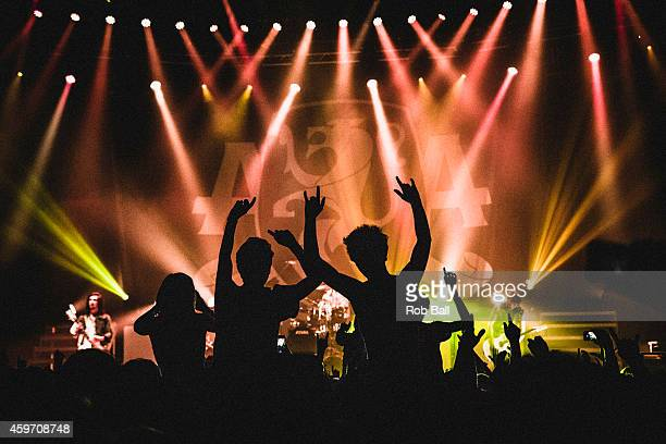 Atmosphere as Asking Alexandria perform on stage at The Roundhouse on November 6 2014 in London United Kingdom