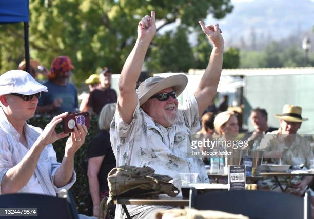 Atmosphere as Karl Denson's Tiny Universe perform at Charles Krug Winery on June 19, 2021 in St Helena, California.